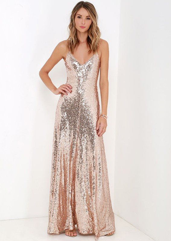 Posh Girl Sissy Sequins Open Back Gown for $1.68 at Posh Girl