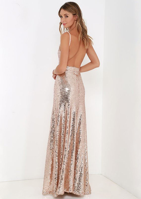 Brands,Dresses,New,Collections,Apparel - Posh Girl Sissy Sequins Open Back Gown
