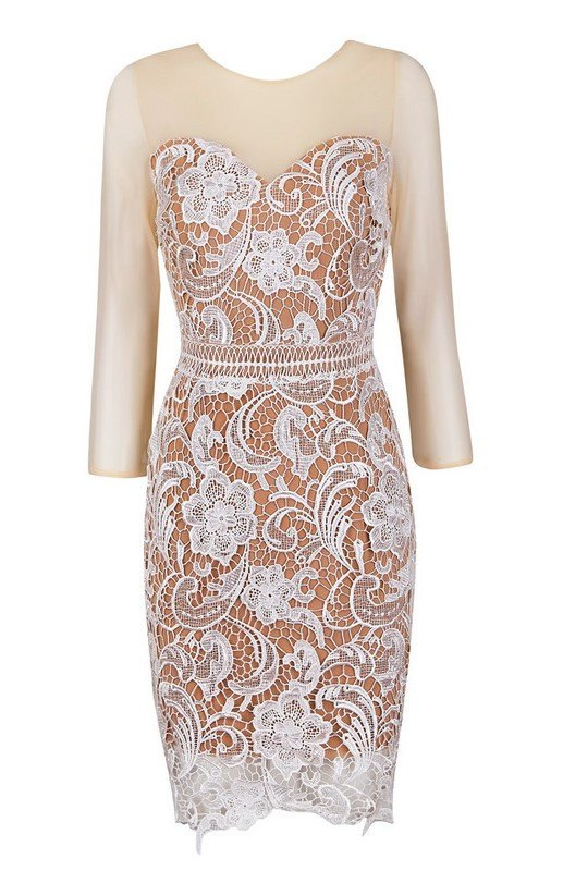 Posh Girl White Ella Lace Sweetheart Dress-POSH GIRL-Posh Girl
