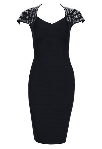 Brands,Dresses,New,Collections,Cocktail - Posh Girl Beaded Shoulder Bandage Dress