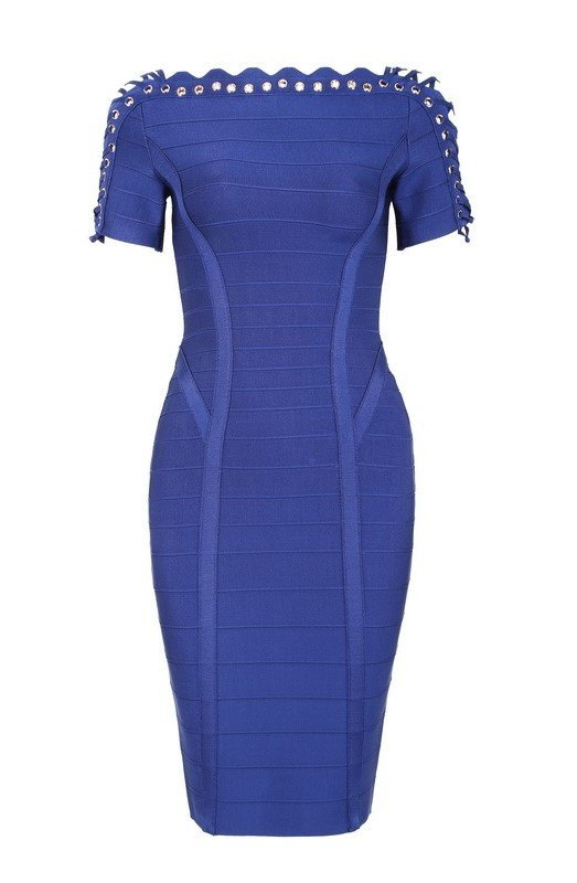 Brands,Dresses,New,Collections,Cocktail - Posh Girl Miranda Lace-Up Bandage Dress