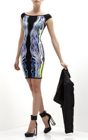 Abstract Print Bandage Cocktail Mini Dress for $1.78 at Posh Girl