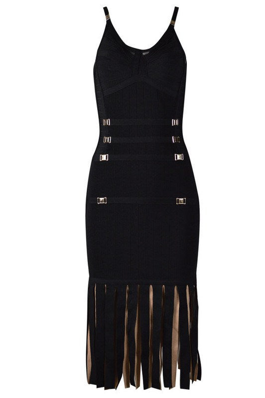 Adriana Fringe Bandage Dress for $1.71 at Posh Girl