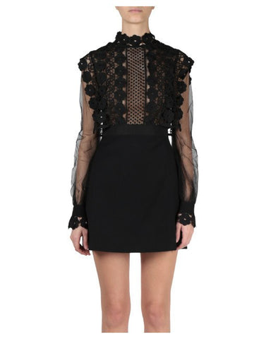 Brands,Dresses,New,Collections - Posh Girl Amanda Lace Long Sleeve Mini Dress