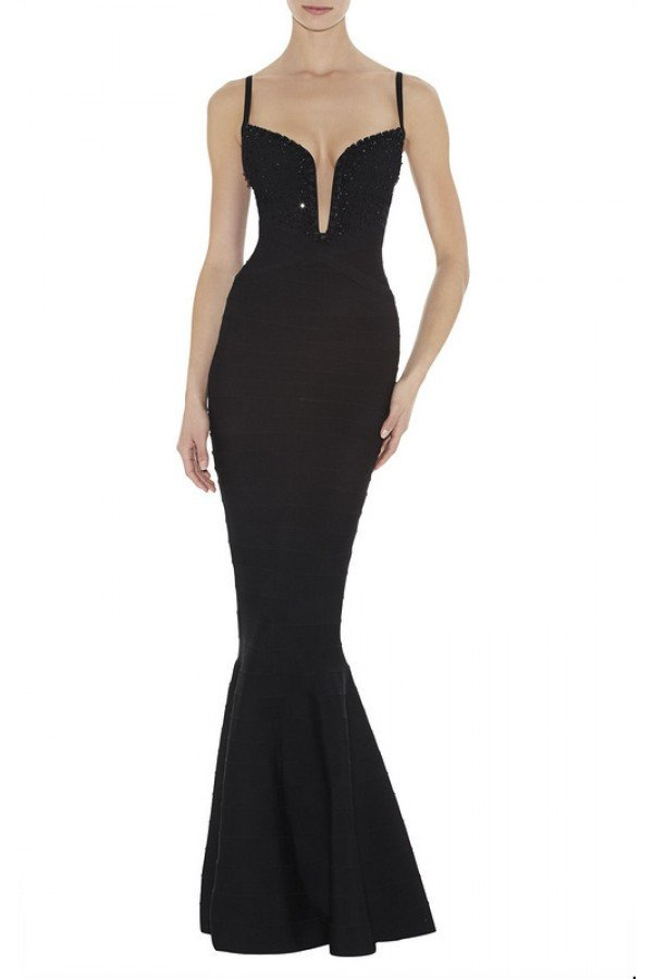 Brands,Dresses,New,Collections - POSH GIRL Beaded Mermaid Bandage Gown