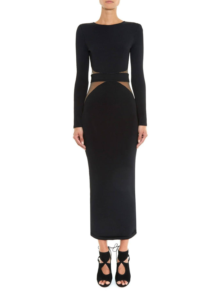 Black Aviva Black Maxi Bodycon Dress-POSH GIRL-Posh Girl