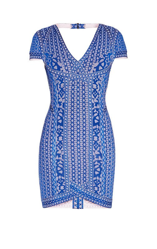 Brands,Dresses,New,Collections - Posh Girl Blue Bayou Bandage Mini Dress