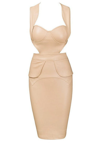 Brands,Dresses,New,Collections - Posh Girl City Girl Vegan Leather Dress