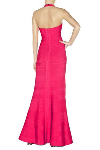 Brands,Dresses,New,Collections - Posh Girl Cut-Out Halter Bandage Gown
