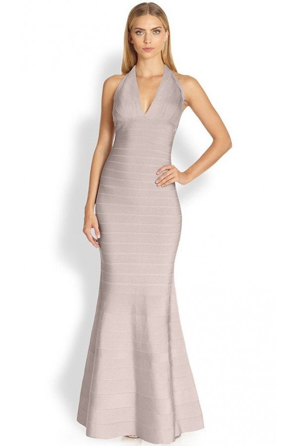 Halter Mermaid Bandage Gown-POSH GIRL-Posh Girl