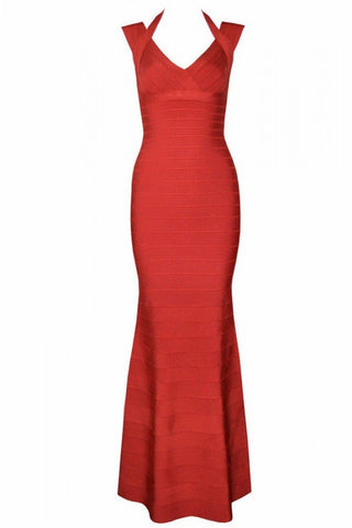 Brands,Dresses,New,Collections - Posh Girl Isabel V-Neck Bandage Gown