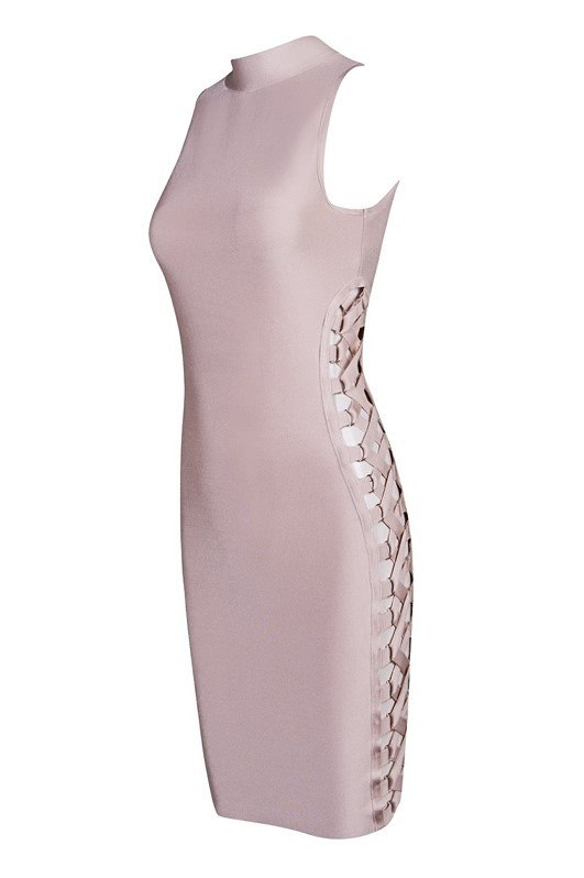 Brands,Dresses,New,Collections - Posh Girl Lace Me Up Bandage Dress