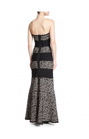 Brands,Dresses,New,Collections - Posh Girl Lace Print Bandage Gown