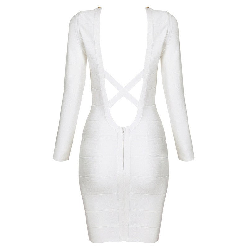Long Sleeve Studded Bandage Dress for $1.78 at Posh Girl