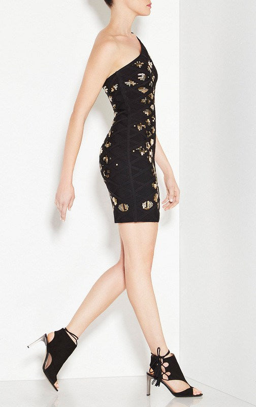Brands,Dresses,New,Collections - Posh Girl Mira Black Cut-Out Bandage Dress