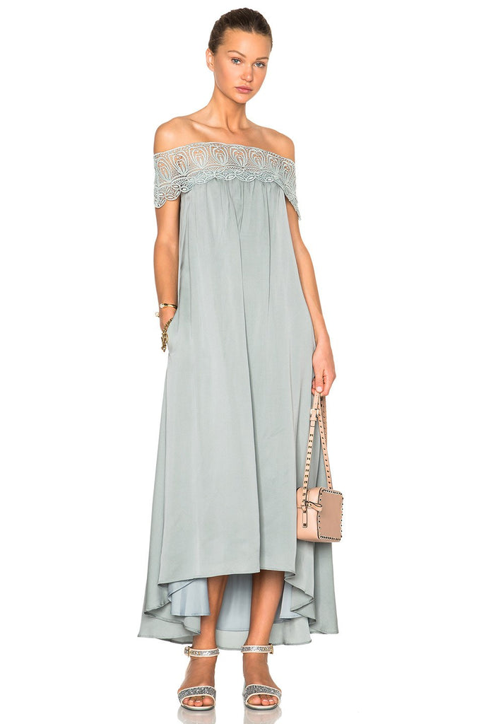 Brands,Dresses,New,Collections - Posh Girl Off Shoulder High-Low Maxi Dress