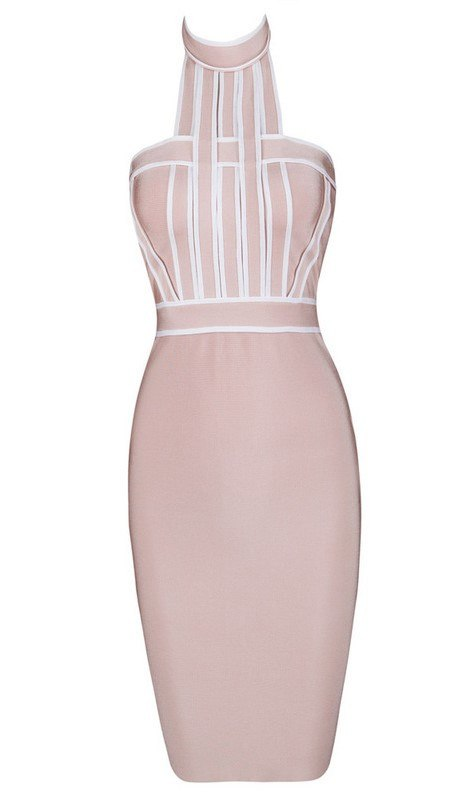 Posh Girl Parker Halter Bandage Dress-POSH GIRL-Posh Girl