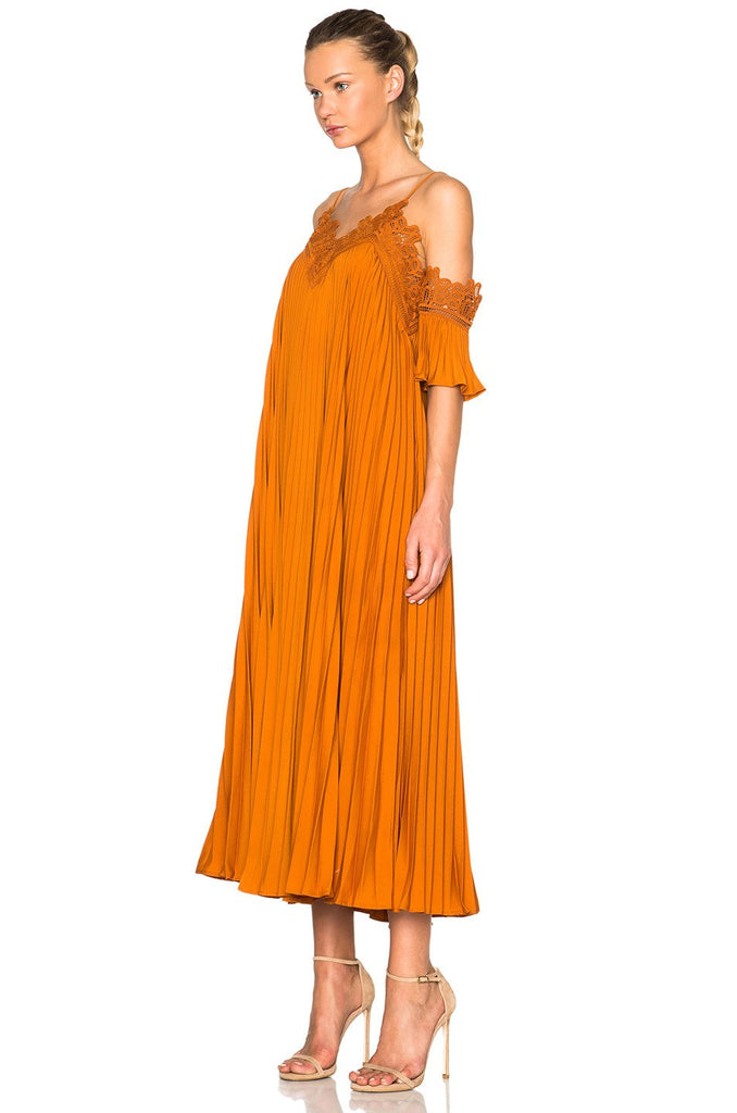 Brands,Dresses,New,Collections - Posh Girl Pleated Off Shoulder Maxi Dress