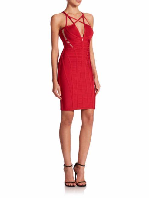 Posh Girl Red Cross My Heart Bandage Dress-POSH GIRL-Posh Girl