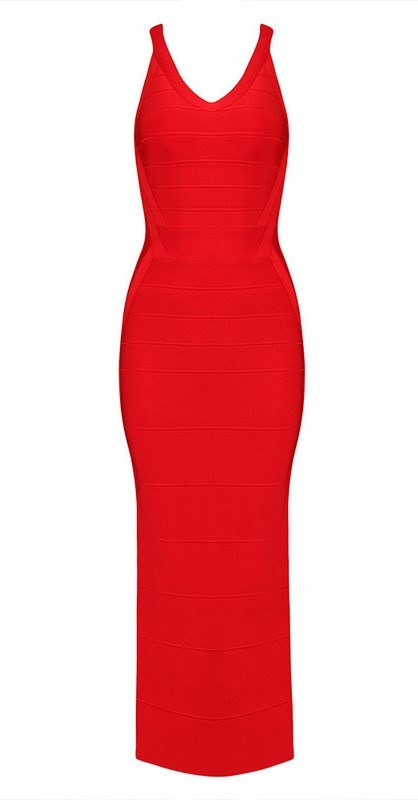 Posh Girl Red Tank Style Bandage Maxi Dress-POSH GIRL-Posh Girl