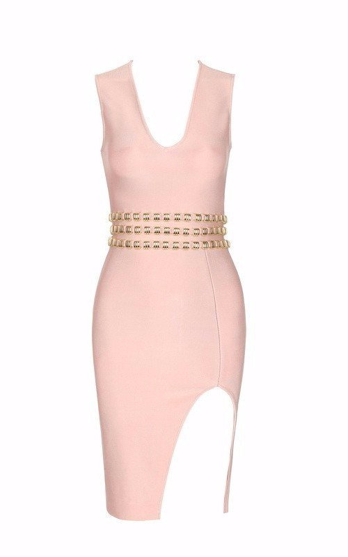 Ruby Babe Studded Bandage Dress-POSH GIRL-Posh Girl