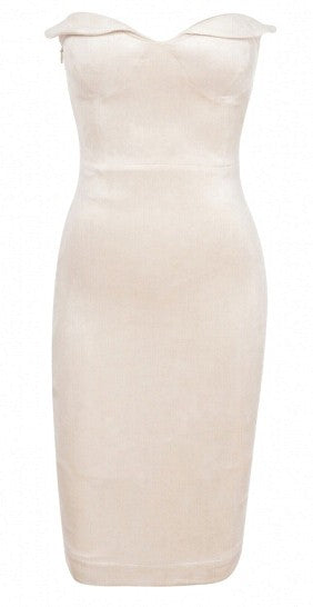 Sweetheart Ultra Suede Dress-POSH GIRL-Posh Girl
