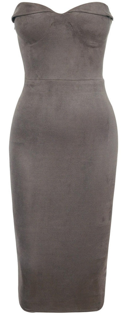 Brands,Dresses,New,Collections - Posh Girl Sweetheart Ultra Suede Dress