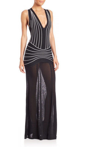 Brands,Dresses,New,Collections - POSH GIRL Vegas Babe V-Neck Bandage Gown