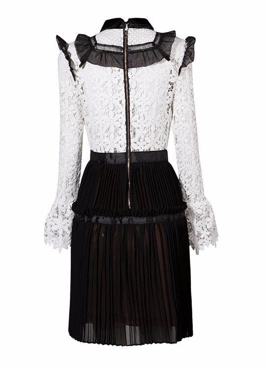Brands,Dresses,New,Collections - Posh Girl Victoria Lace Pleated Mini Dress