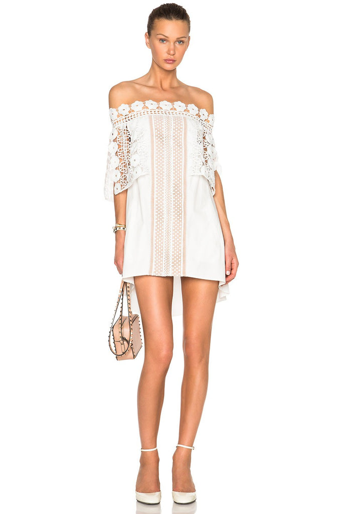 Brands,Dresses,New,Collections - Posh Girl White Off Shoulder Mini Dress