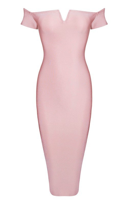 Athea Off Shoulder Bandage dress-POSH GIRL-Posh Girl