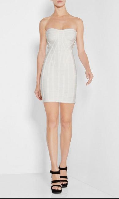 Textured Strapless Bandage Dress-POSH GIRL-Posh Girl