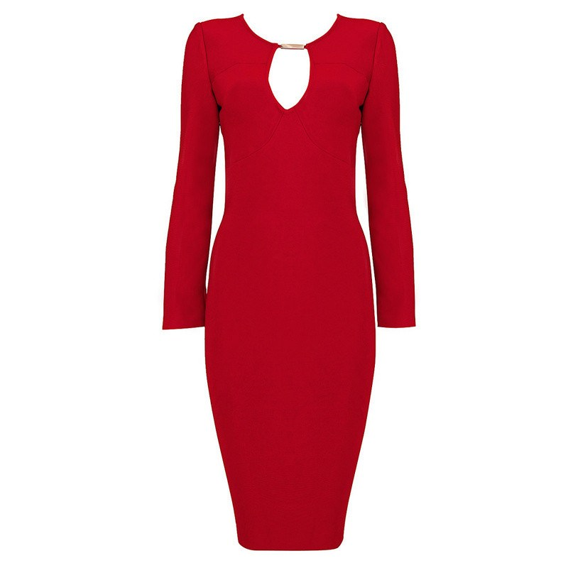 Brands,Dresses - POSH GIRL Body-Con Red Barb  Dress
