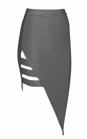 Brands,New,Apparel,Collections - POSH GIRL Asymmetrical Cut-Out Bandage Skirt