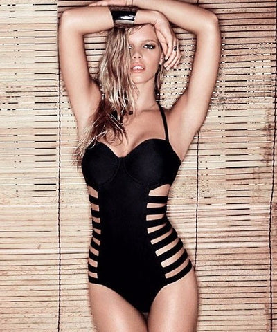 Brands,New,Apparel,Collections - Posh Girl Cut-Out Side Bandage Swimsuit