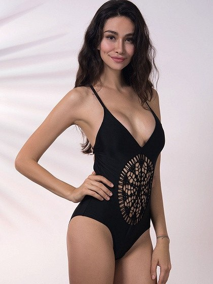 POSH GIRL St. Tropez Lace Swimsuit-POSH GIRL-Posh Girl