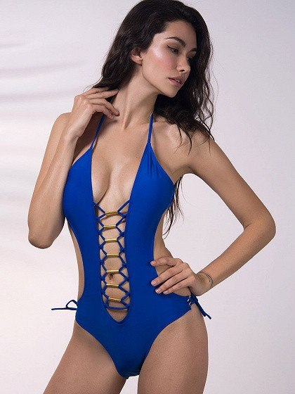 Brands,New,Apparel - POSH GIRL Tango Babe Lace Up Swimsuit
