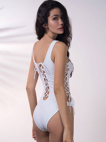 Brands,New,Apparel - POSH GIRL Tango Too Lace Up Swimsuit