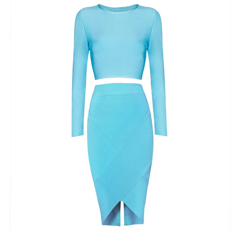 Posh Girl Little Girl Blue Bandage Skirt Set for $1.68 at Posh Girl