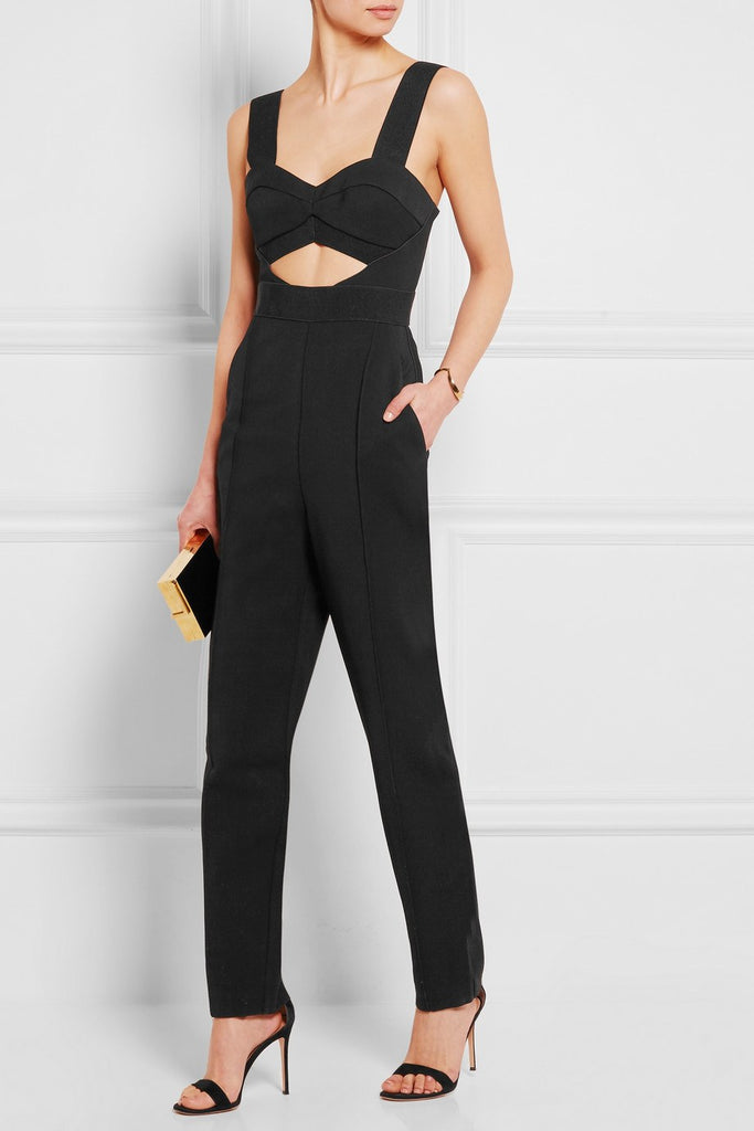 Brands,New,Collections,Apparel,Jumpsuits, - Posh Girl Cut-Out Skinny Leg Jumpsuit