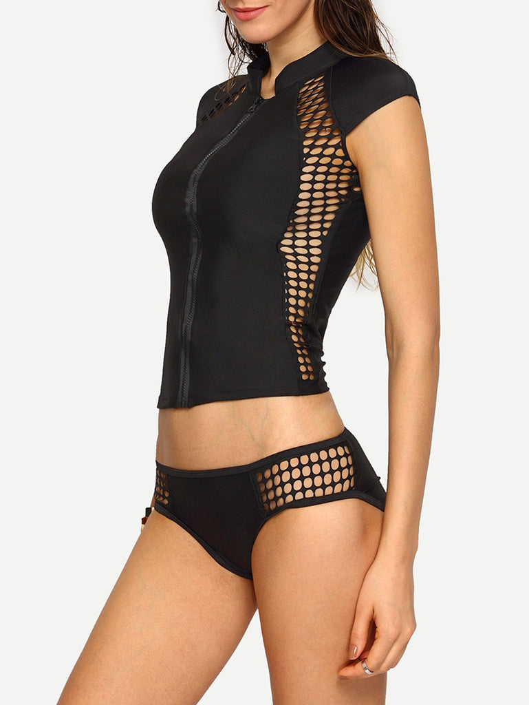 Posh Girl Extreme Surfer Babe Mesh Swimsuit-POSH GIRL-Posh Girl