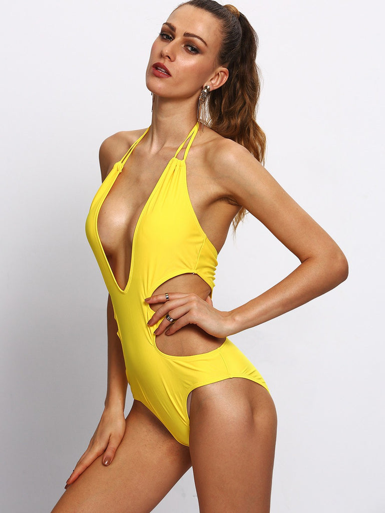 Posh Girl  Mello Yellow Cut-Out  Swimsuit for $0.78 at Posh Girl