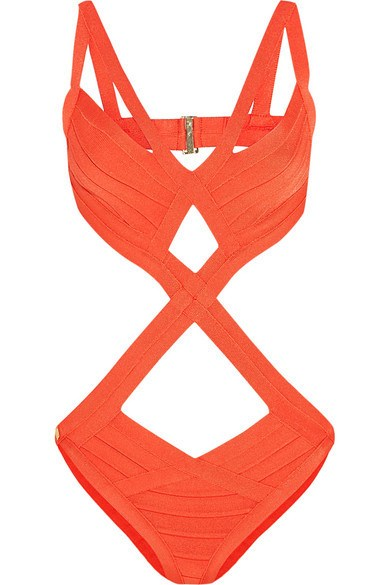Brands,New,Collections,Apparel - Posh Girl Orange Cut-Out Bandage Swimsuit