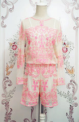 Posh Girl Pink Sequins Long Sleeve Romper for $1.38 at Posh Girl