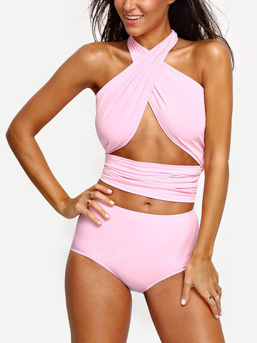 Brands,New,Collections,Apparel - Posh Girl Starlet Babe Halter Wrap Swimsuit