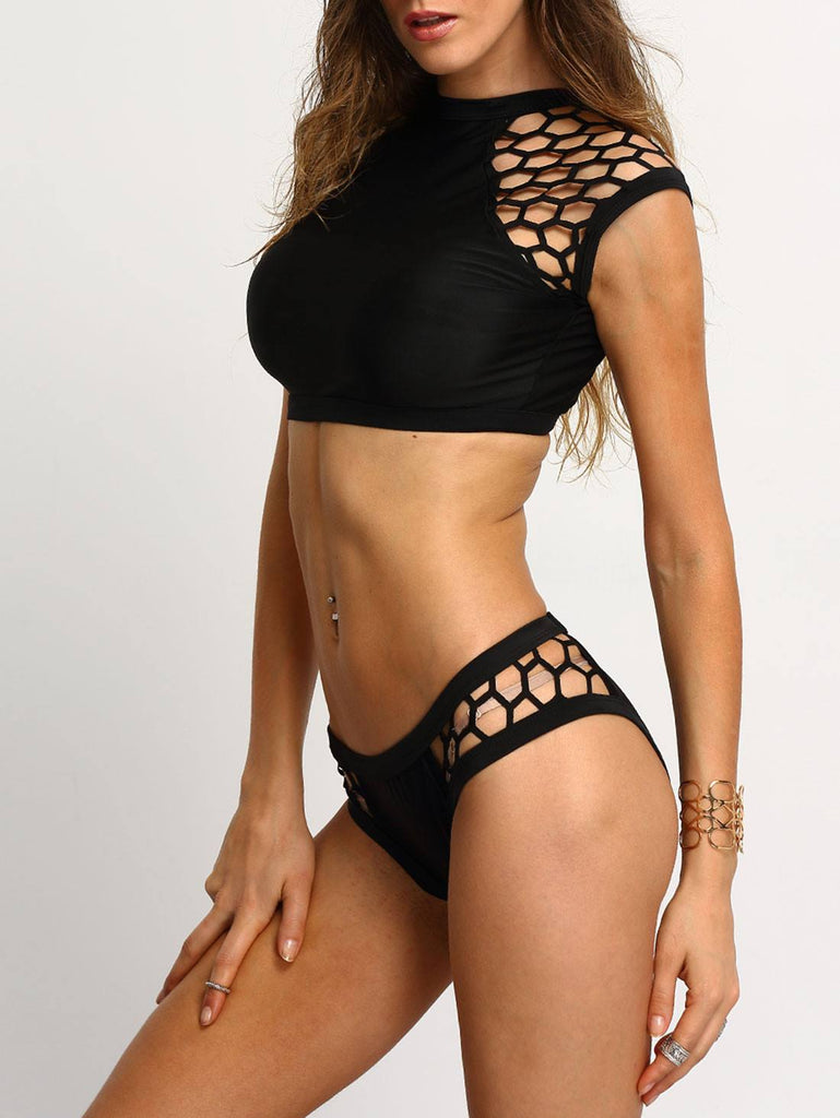 Surf War Black Mesh Bikini for $0.78 at Posh Girl