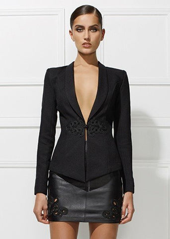 Brands,New,Collections,Apparel - Posh Girl Vegan Leather Skirt Suit