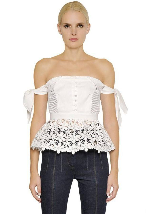 Posh Girl White Lace Off Shoulder Blouse-POSH GIRL-Posh Girl
