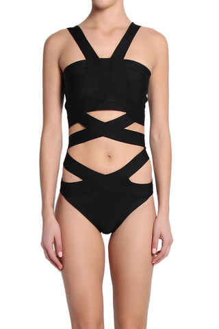 Brands,New,Collections,Apparel - Posh Girl X-Sport Cut-Out Bandage Swimsuit