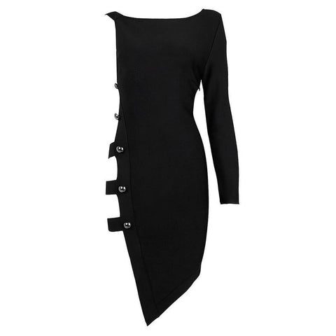 Onyx  Black Cut Out Side Bandage Mini Dress for $1.68 at Posh Girl
